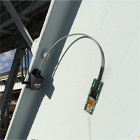Wireless strain (stress) gauge SenSpot sensor installed on a bridge girder