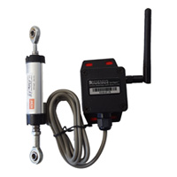 Wireless tilt (inclination) SenSpot sensor to monitor concrete wall deflection
